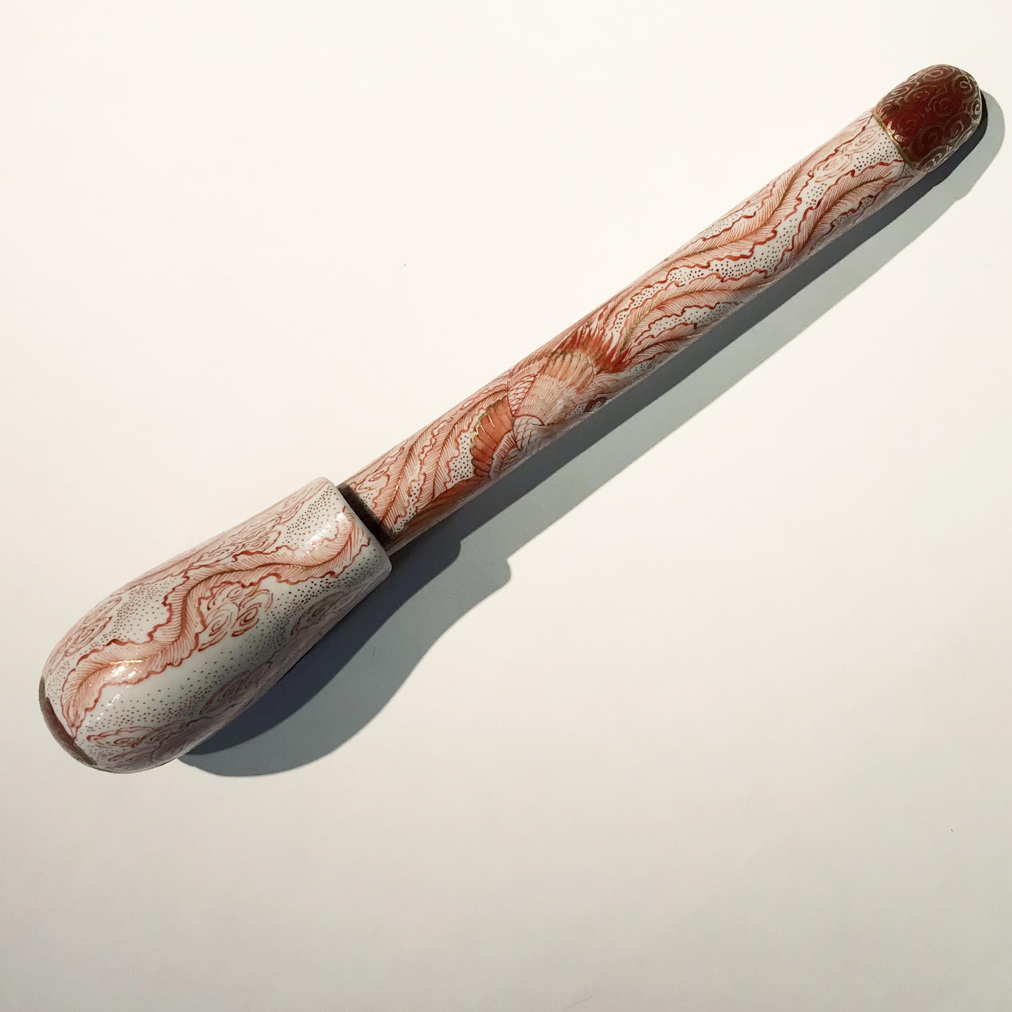 Vendu/Sold Yatate ( encrier portatif) érotique en porcelaine de Kutani, Japon 19e siècle