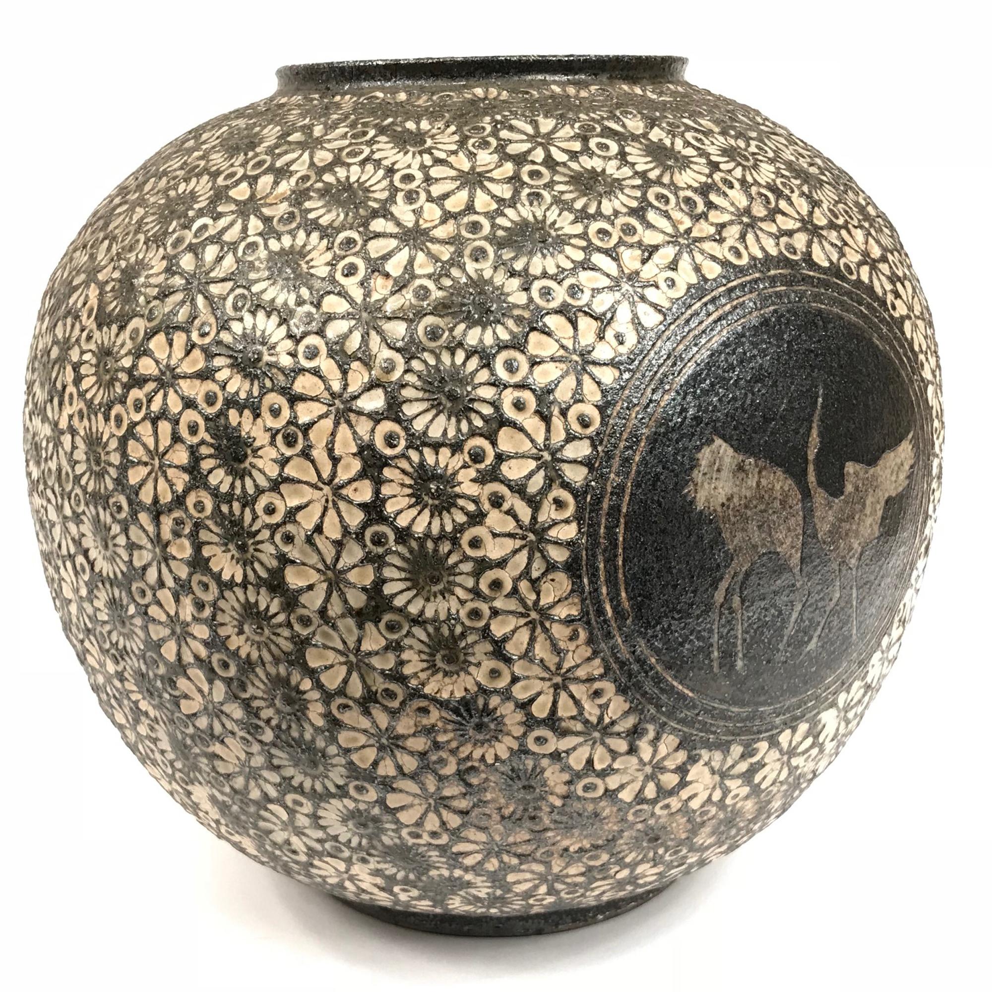 Vendu/ Sold Japon, vase en céramique vers 1970, signé.