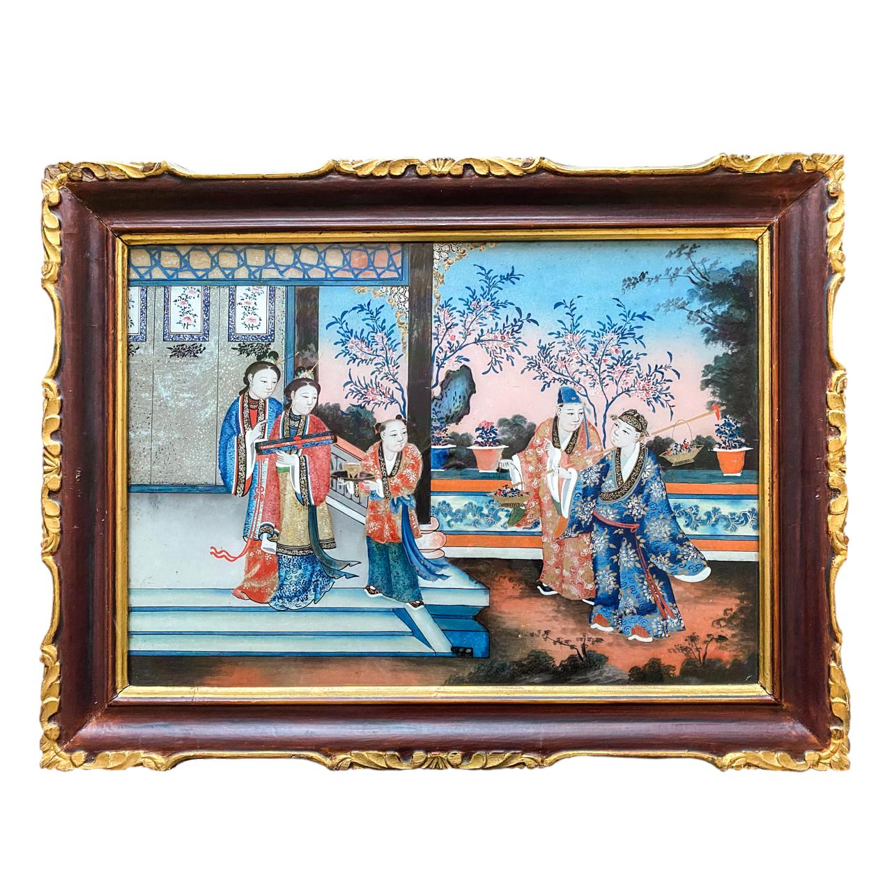 Chine, Fixé sous verre vers 1840/60