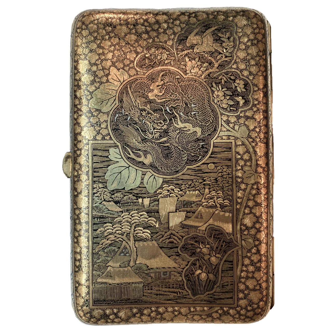 Japon, Spectaculaire étui à cigars,  Komai, époque Meiji.