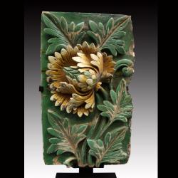 Chine, époque Ming (1368- 1644), brique de revêtement.