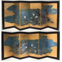 VENDU/ SOLD Japon, Pare de petits paravents vers 1900/20