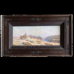 Constant Louche 1880-1965, Paysage , vue de M'Sila