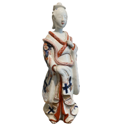 Japon, Bijin en porcelaine d'Arita Imari, vers 1690, période Genroku