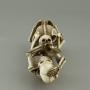 VENDU Japon, okimono,  deux squelettes buvant du saké, Japon 19ème.