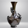 Japon, Vase en bronze à décor de dragons, époque Meiji, vers 1880