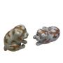 Japon, deux petits chiens, porcelaine de Kutani, 19ème siècle