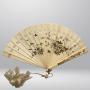 Japon, éventail en ivoire, époque Meiji
