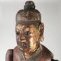 Chine, mannequin articulé en bois, 18ème siècle.