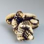 Japon, netsuke en ivoire  Rô-shi sur son bœuf, Masatsugu, 19e