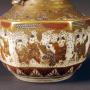 Japon,  paire de vases en céramique de Satsuma, époque Meiji.