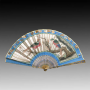 China, Fan representing a lion, Canton, late 18th century.