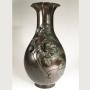 Japon, Grand vase en bronze, époque Meiji, fin du 19ème siècle.