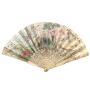 France/Chine Eventail scène de basse-cour et chinoiseries, 18ème siècle.