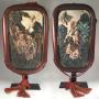 VENDU / SOLD Japon,  Kyoto Satsuma, Paire de plaques murales par  Eizan Kawamoto, vers 1900
