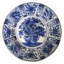 Japan, grand plat blanc, Arita, époque Edo.