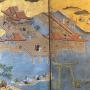 Japon, Paravent , le temple de  Itsukushima, 18éme siècle