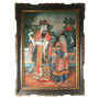 VENDU/SOLD Chine, Peinture en fixé sous verre, vers 1840-60.