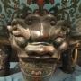 Chine, grande vasque de brûle parfum, époque Jiaqing.